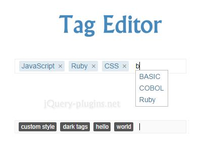 Tag Editor – Lightweight Tag Editor Plugin for jQuery