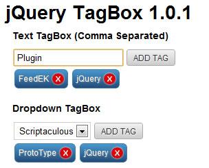 jQuery TagBox Plugin