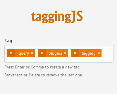 taggingJS – jQuery Plugin to Tagging Like a Charm