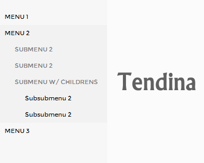 Tendina –  jQuery Plugin to Build Dropdown Side Menus