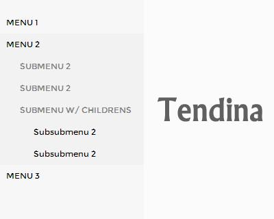 Tendina –  jQuery Plugin to Build Dropdown Side Menus