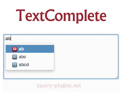 TextComplete – jQuery Plugin to Create Autocomplete for Textarea