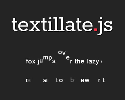 Textillate.js – Simple jQuery Plugin for CSS3 Text Animations