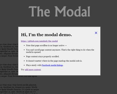 The Modal – Proper Modal Boxes