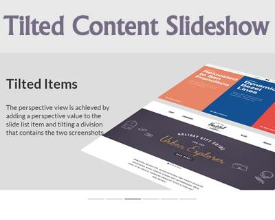 Tilted Content Slideshow