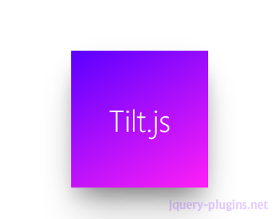 Tilt.js – Tiny Parallax Tilt Hover Effect for jQuery