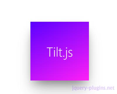 Tilt.js – Tiny Parallax Tilt Hover Effect for jQuery