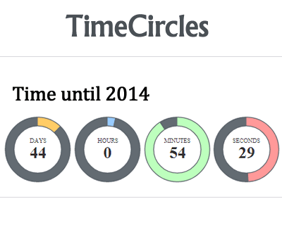 TimeCircles – jQuery Plugin to Display Timer and Count Down with Circles