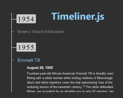 Timeliner.js - jQuery Plugin for Making Simple Historical Timelines