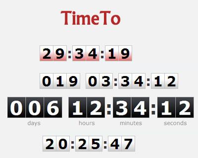 TimeTo – jQuery Digital Clock Countdown Timer Plugin | jQuery Plugins