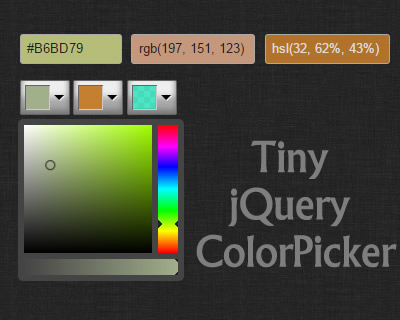 Tiny jQuery ColorPicker
