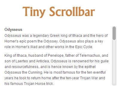 Tiny Scrollbar – Cross Browser Lightweight jQuery Scrollbar