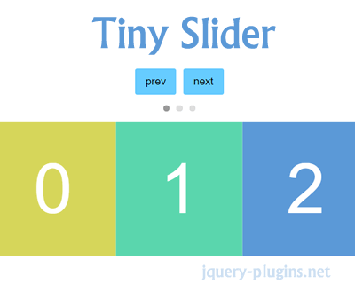 Tiny Slider – Javascript Slider for All Purposes | jQuery
