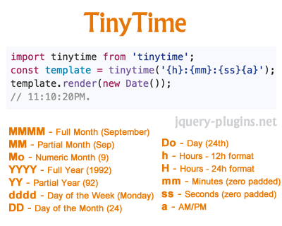 TinyTime – Straightforward Date and Time Formatter
