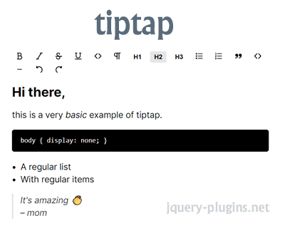 tiptap – Extendable Rich-Text Editor for Vue.js