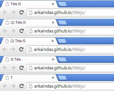 Title.js – JavaScript Library for Browser Title Bar Manipulation