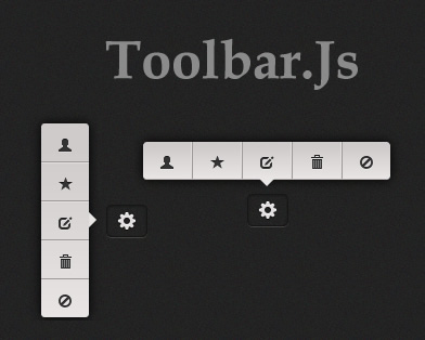 Toolbar – Tooltip Style Toolbar jQuery Plugin
