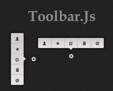 Toolbar – Tooltip Style Toolbar jQuery Plugin