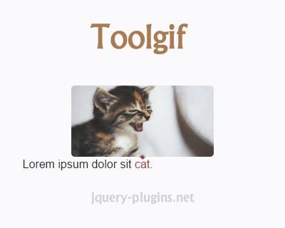 Toolgif – Simple jQuery GIF Tooltip Plugin