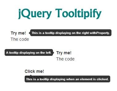Tooltipify – Stylable jQuery Tooltip Plugin