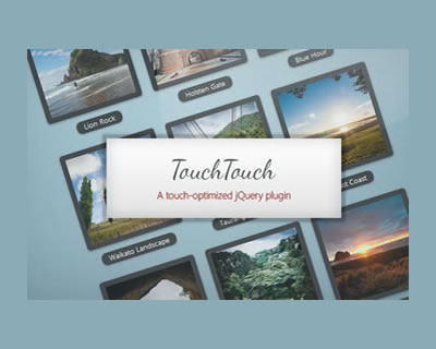 TouchTouch - A Touch Optimized Gallery Plugin