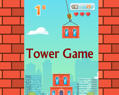 Tower Building Game with Html5 Canvas and Javascript