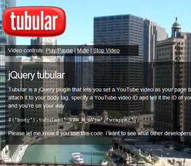 jQuery Tubular - YouTube Background Player Plugin
