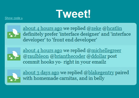 Tweet! - jQuery Twitter Feed Plugin