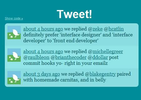 Tweet! - jQuery Twitter Feed Plugin