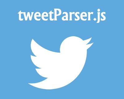 tweetParser.js – Parse Twitter HashTags, Usernames and URLs