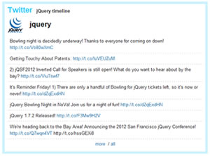 Twit - Display Twitter Tweets on a Blog