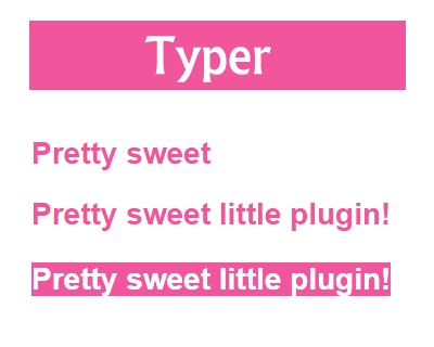 Typer – jQuery Plugin for Slick Typing Effect