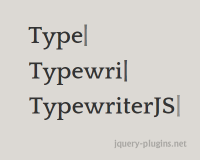 TypewriterJS – Javascript Plugin for Cool Typewriter Effect