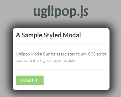 Uglipop.js – Ultra Lightweight Javascript Modal/Lightbox