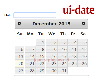 ui-date – jQuery UI Datepicker for AngularJS