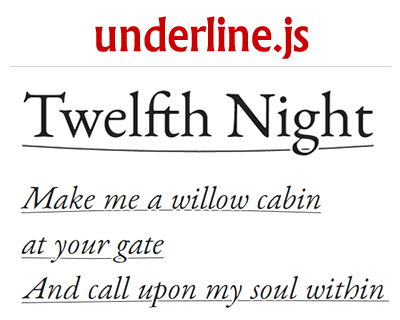 underline.js – Javascript Library to Draw and Animate Text Underline