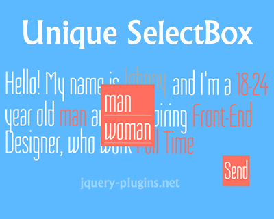 Unique SelectBox Style with jQuery