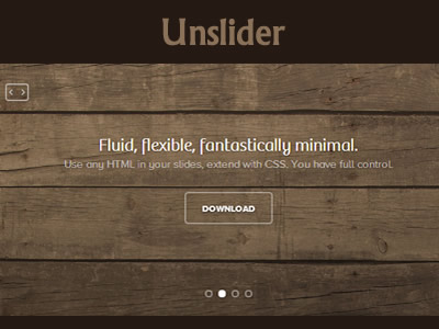 Unslider – Flexible and Responsive jQuery Slider