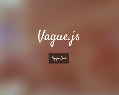 Vague.js – jQuery Plugin to Blur Any Kind of Html Element