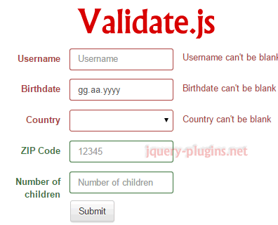 Validate.js – Declarative Validation with Javascript