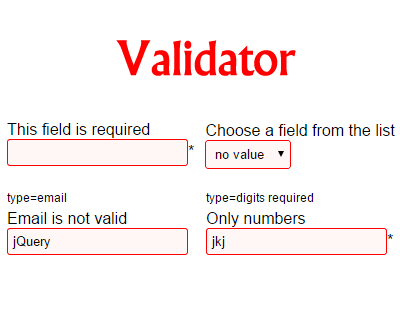 Validator – jQuery Validation Plugin for Forms