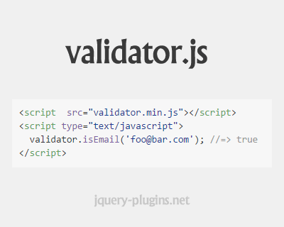 validator.js – String Validation and Sanitization Library