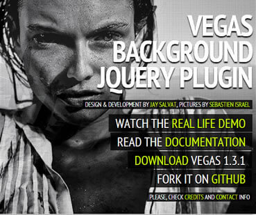 Vegas – Fullscreen Backgrounds and Slideshows with jQuery
