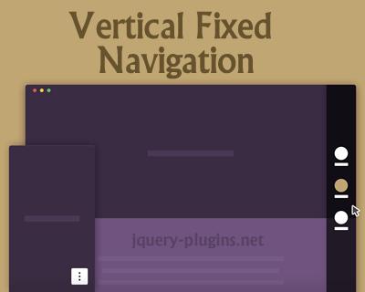 Vertical Fixed Navigation
