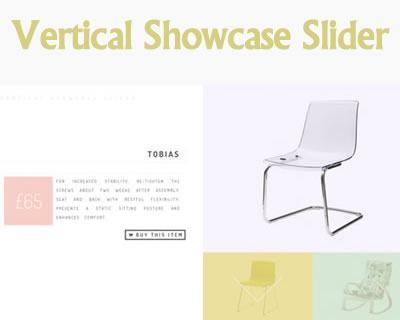 Vertical Showcase Slider with jQuery and CSS Transitions