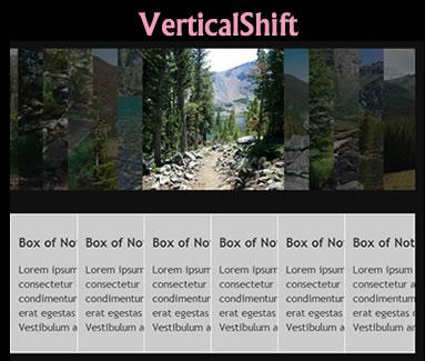 VerticalShift jQuery Plugin