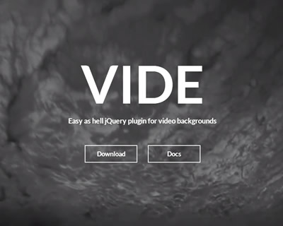 Vide –  jQuery Plugin for Video Backgrounds
