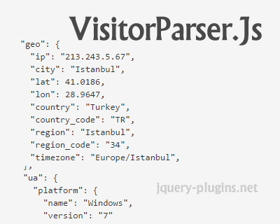 VisitorParser.js – User Agent & IP Geo Location Parser with Javascript