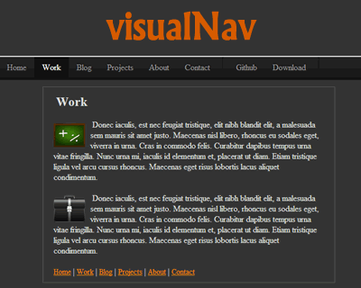 visualNav – jQuery Navigation Menu with Smooth Scroll