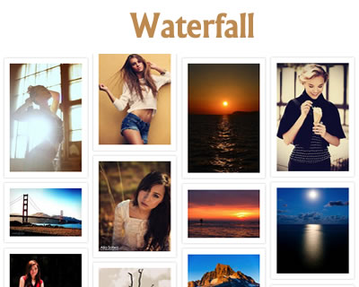Waterfall – jQuery Plugin for Pinterest Like Layout